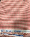Red Check Mix Cotton Uniform Fabric