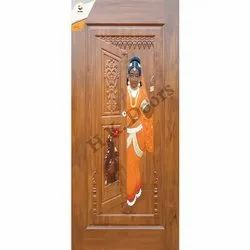 Decorative African Teak Wood Door