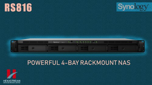 NETWORK ROUTER & SWITCHES - SYNOLOGY RS816 4-BAY Rack Mount