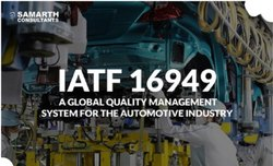 IATF 16949 System Implementation and Process Design