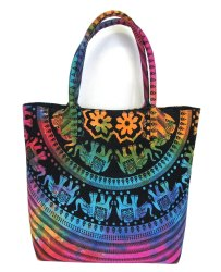 Printed Cotton Cloth Ladies Handbag
