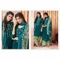 Ladies  Embroidered Cotton Silk Unstitched Suit