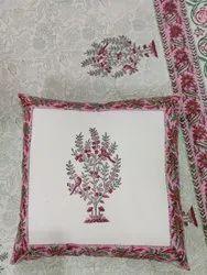 Mugal Buta Floral Cushion Cover Hidden Zipper Home Furnishings Item