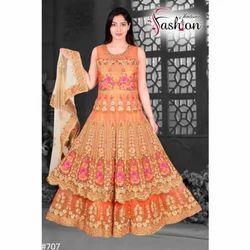 Flower Print Anarkali Suit
