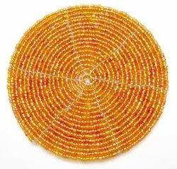 Yellow Bead Coaster