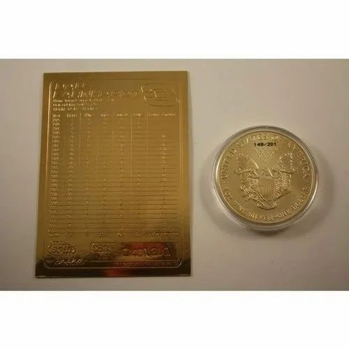 Gold Coin Packing Cards