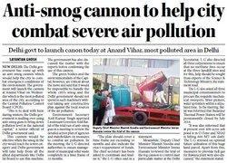 This is an anti-smog cannon being trialled in India's capital