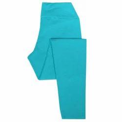 Cotton Sky Blue Ladies Ankle Leggings, Size: Free Size