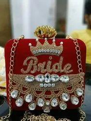 Silk Embroidered Bridal Clutch