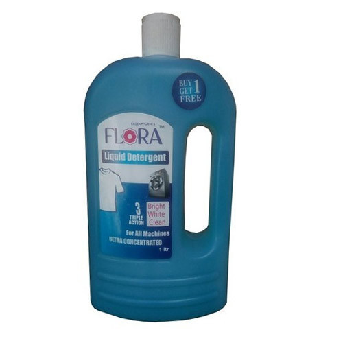 Flora Concentrated Liquid Detergent, Packaging Type: Plastic Bottle, Pack Size: 1 L