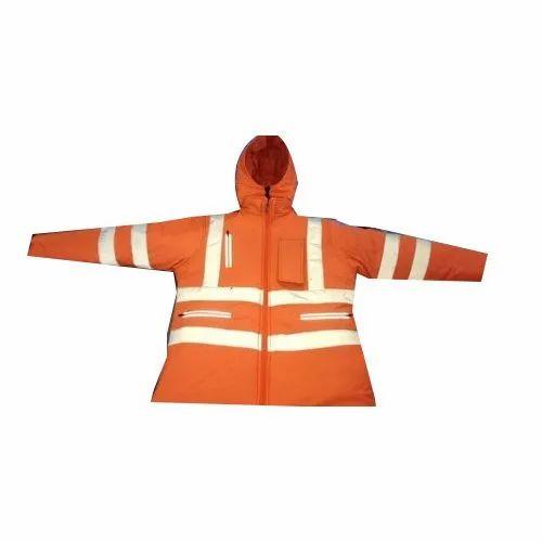 Full Sleeve KNR Orange Security Jacket