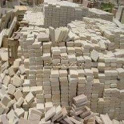 Sawn Tumbled Mint Sandstone Cobbles, for Landscaping
