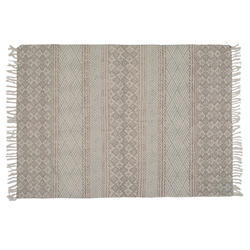 Flatweave Faded Block Print Area Rug