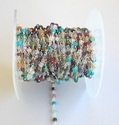 Turquoise Beaded Rosary Chain