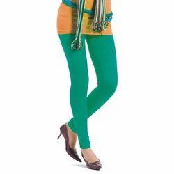 Sea Green Plain Cotton Ladies Legging, Size: M, L, XL, XXL
