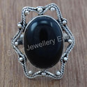 Black Onyx Gemstone 925 Sterling Silver Handmade Ring