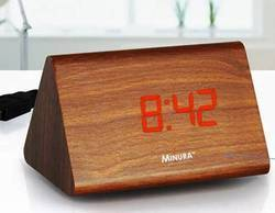 Minura Triangle LED Wooden Clock (Actual Wood Used)