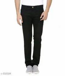 Men NarrowFit Branded Z Black Denim Jeans Pant, Age Group: Mens Wear