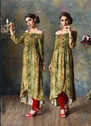 PR Fashion New Green Colored Designer Kurti