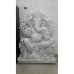 White Marble God Ganesh Statue