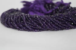 Natural African Amethyst Faceted Rondelle Beads 4mm