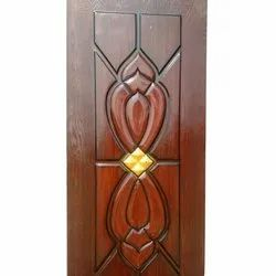 Hinged Glossy Decorative Wooden Door, Thickness: 15-20 mm