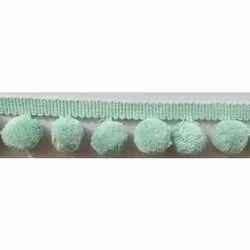 Sea Green Pom Pom Fringe