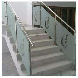 Glass Staircase Railing At Rs 1450 /running Feet | Glass Staircase Railing    Kiran Steel India, Bengaluru | ID: 16347799755