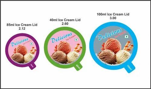 Paper Ice Cream Lid