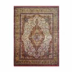 Rectangular Multicolor Handknotted Woolen Carpets, for Floor
