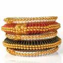 Indian Handcraft Fashion Desinor Silk Thread Bangle Set