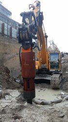 Rock Splitter Excavator Attachment