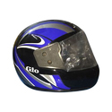 Black And Blue Printed Face Cover Helmet, Size: Sm, Md, Lg