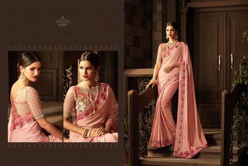 411241ec83 Silk Baby Pink Stylish Saree Shop Online, Rs 2165 /piece, Krivi ...