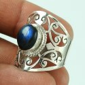 Big Natural Top 925 Sterling Silver Turquoise Handmade Ring