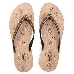Women Brown PVC Fashion Slippers