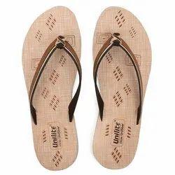 Women Brown PVC Fashion Slippers