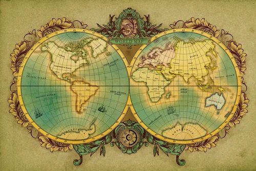 Vinyl horizontal antique globe world map wallpaper rs 120 square vinyl horizontal antique globe world map wallpaper gumiabroncs Images