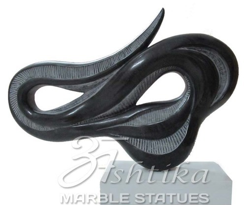 Black Marble Modern Art Sculpture