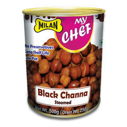Milan My Chef Steamed Black Chana, Rajasthan, Packaging Size: 500gm,1 kg