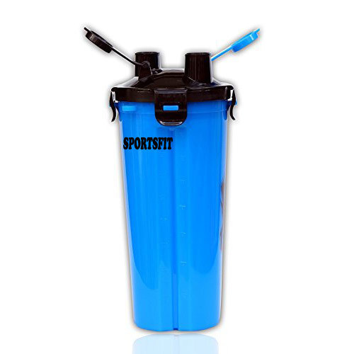 Blue  Gym Shaker Bottle, Capacity: 700 Ml