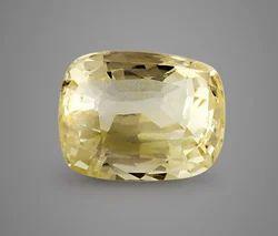 Natural Yellow Sapphire Cylone Stone
