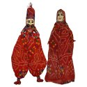 Rajasthani Wood Puppet Pair