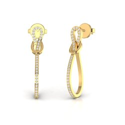 Party Wear Diamond Drop Earrings For Women Solid 14kt White Rose Yellow Gold Jewelry