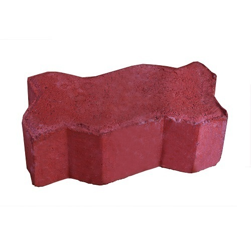Concrete Zig Zag Paver Block, Thickness: 60 to 80 mm