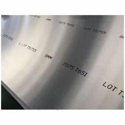 Aluminum 7075 T6 Plate