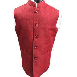 Oriental Party Wear Mens Red Modi Jacket