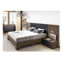 Cherry Wood King Size Double Bed, Warranty: 5 Year