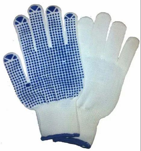 Full Finger Men Dotted Hand Gloves, Size: Free Size