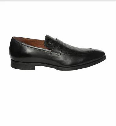 Men Van Heusen Black Slip On Shoes